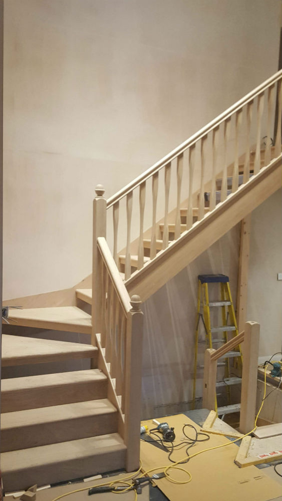 Charlie the Joiner - Luxury bespoke wooden staircase spindles Harrogate